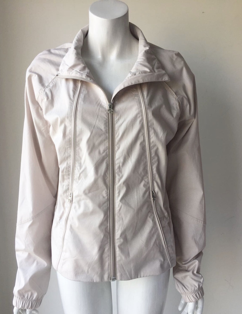 Lululemon Tan Zip-Up Running Jacket Size 10