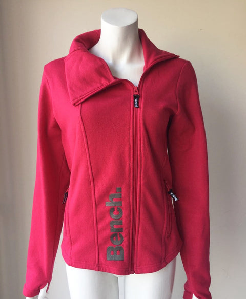 Bench Pink Zip-Up Sweater Jacket Size XL