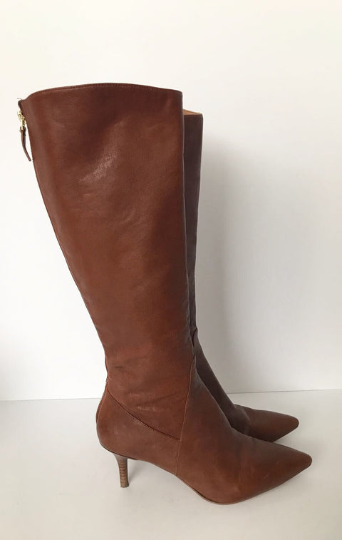 Nine West Tall Brown Pointed Toe Boots Size 7