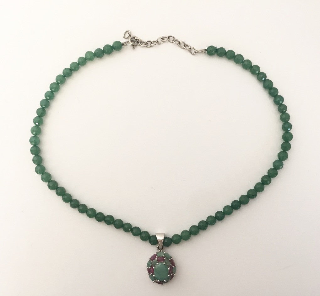 Handmade Green Beaded Necklace