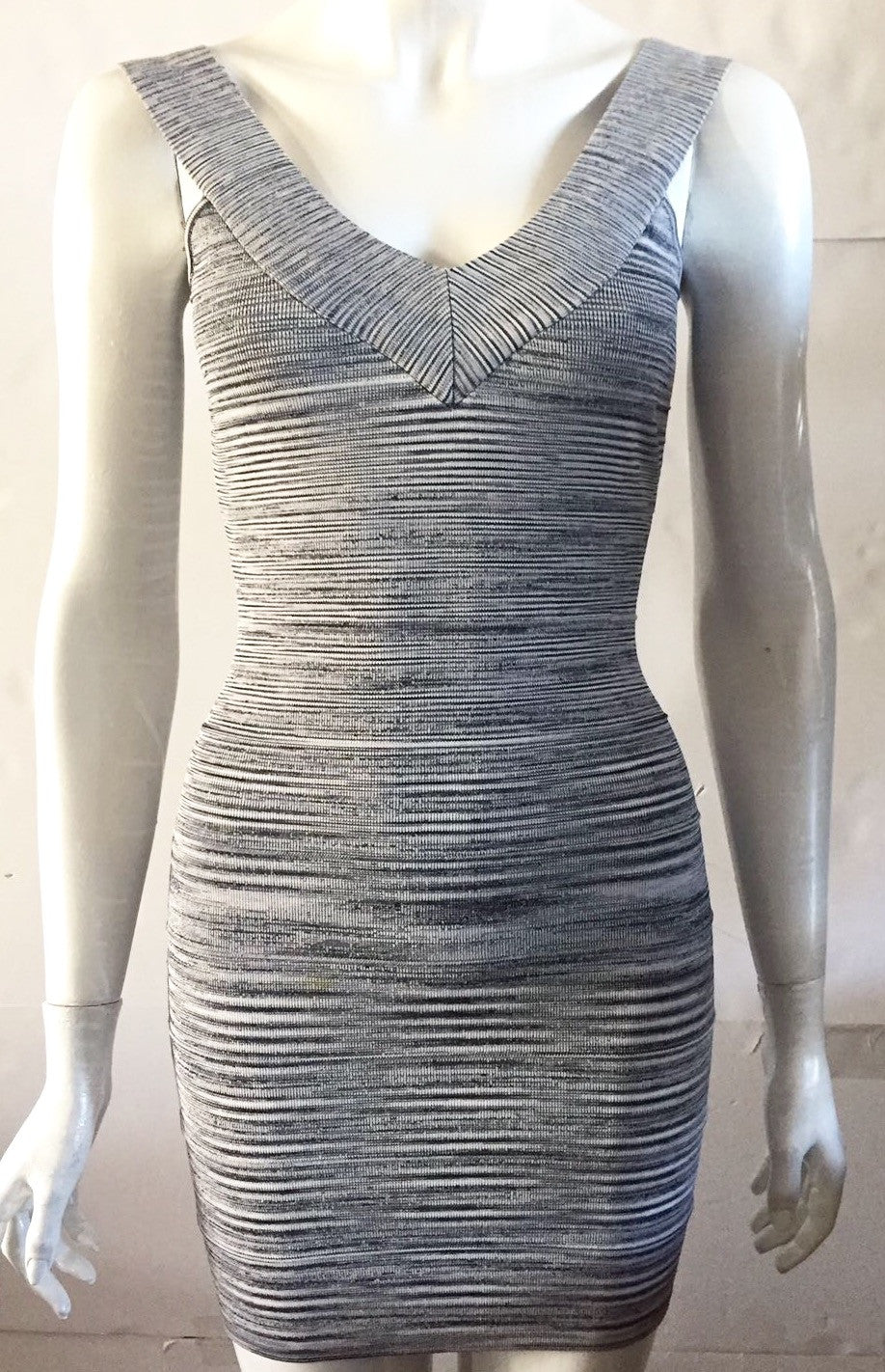 Guess By Marciano Grey Sleeve Bandage Dress Size S P11R6500000