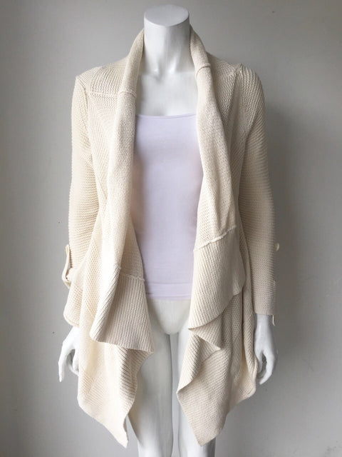Splendid Cream Open Draped Sweater Size S