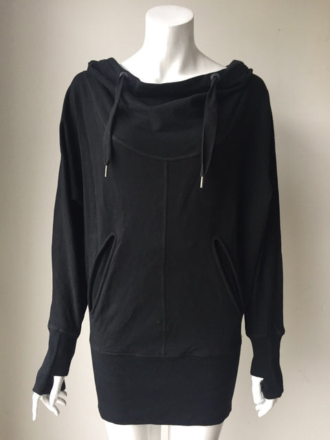Lululemon Black Hooded Pullover Sweater Size 6