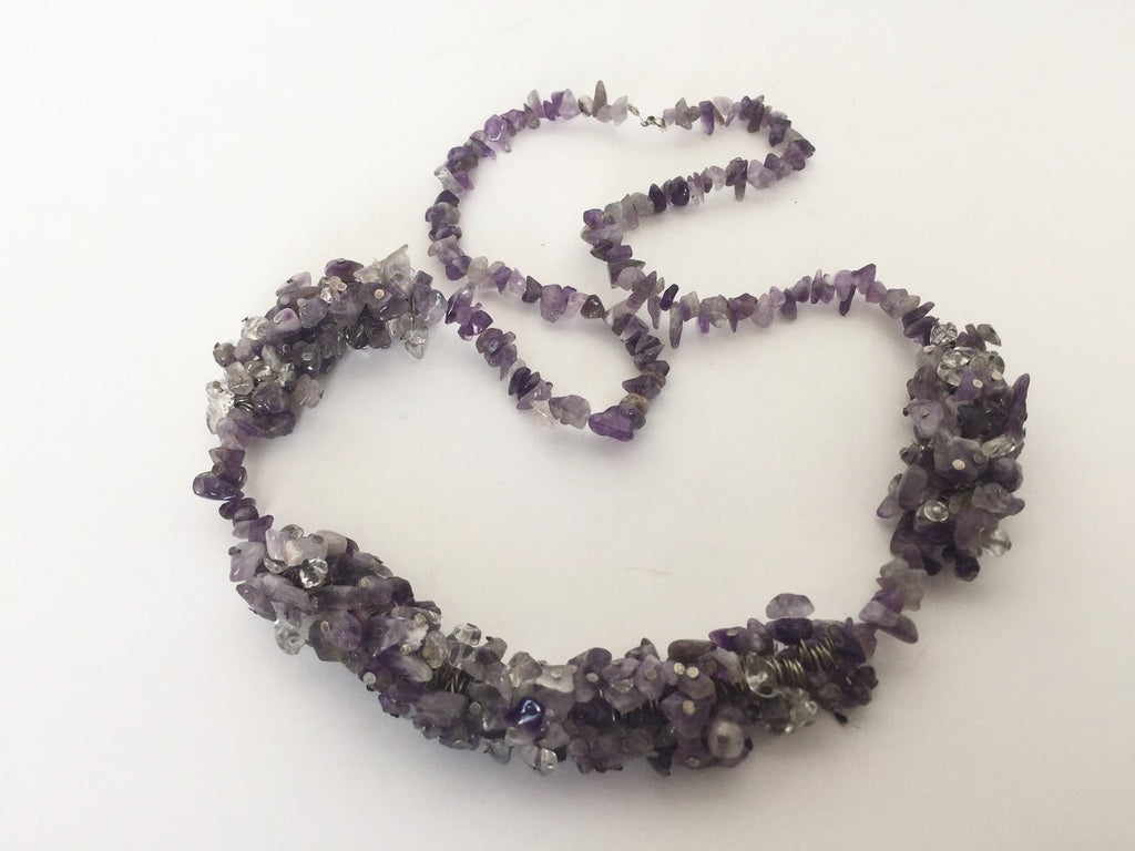 Handmade Amethyst Chunky Statement Necklace