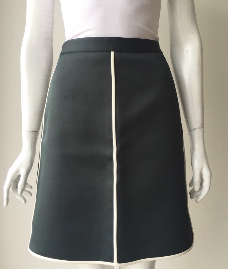 Club Monaco Emerald Green Tennis Midi Skirt Size 4