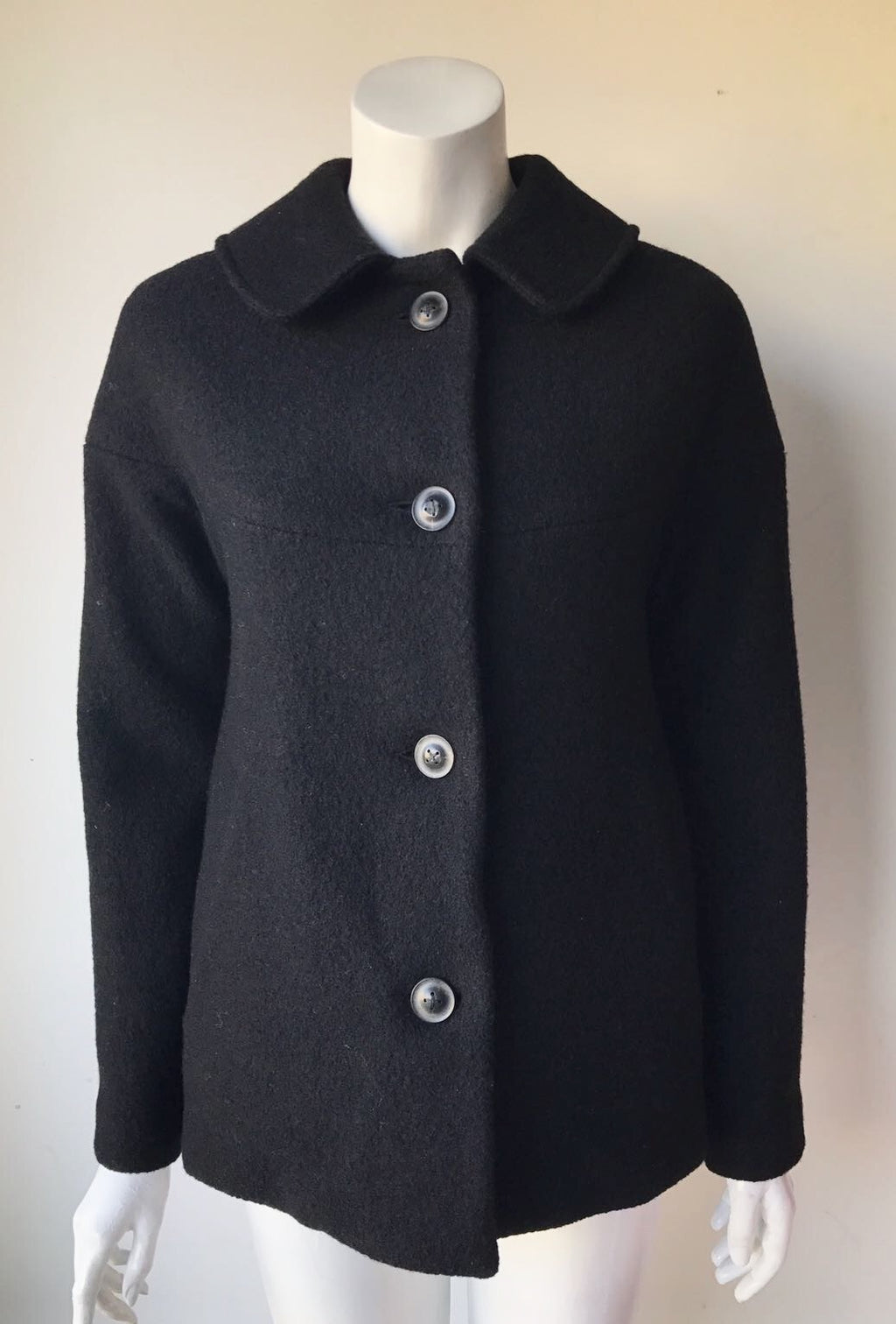 Built By Wendy Black Peacoat Size XS