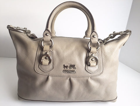 Coach Grey Leather Satchel