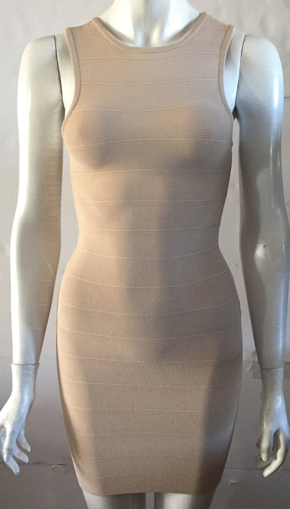 Guess by Marciano Nude Racer Back Bandage Dress Size XS P21R4100000