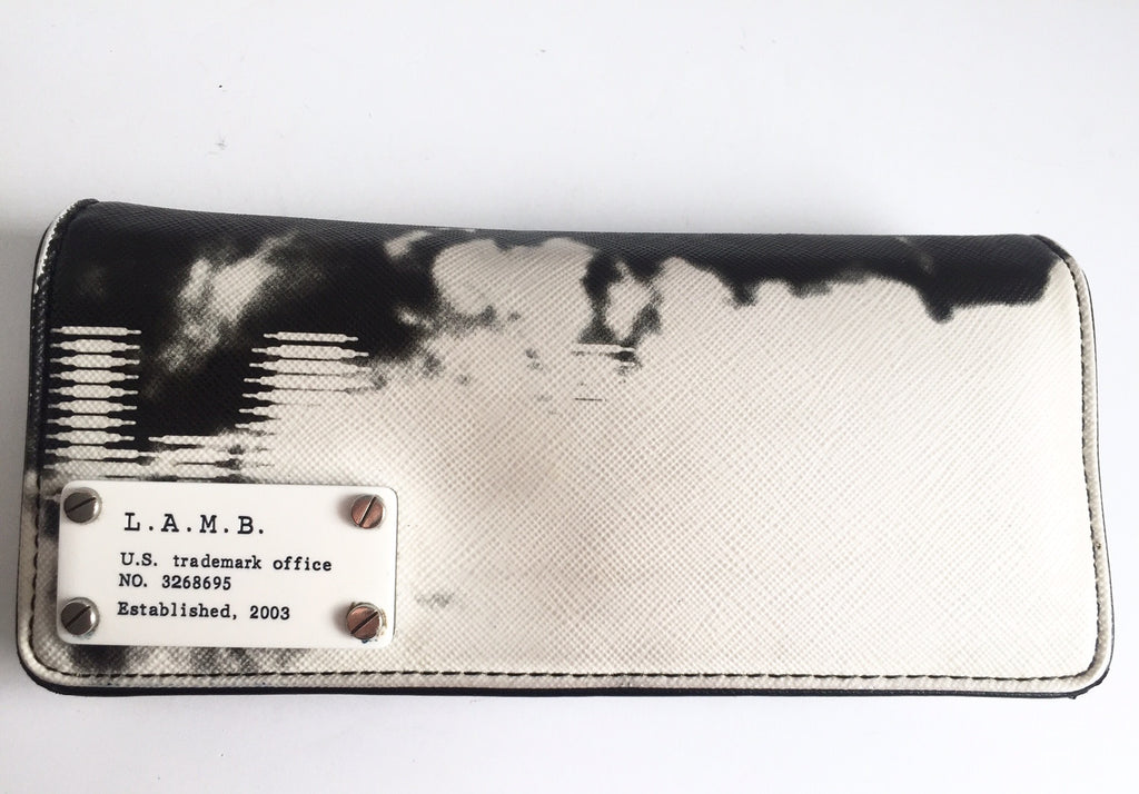 L.A.M.B Black & White Arak Clutch Wallet
