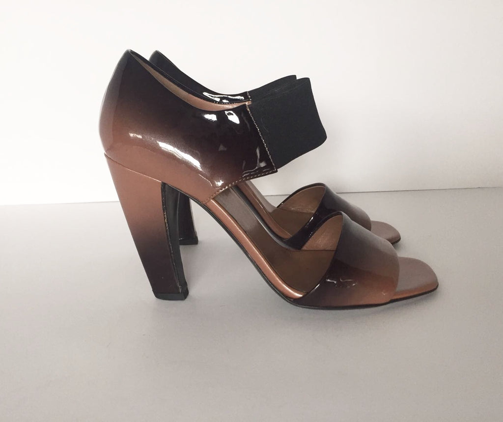 Prada Ombre Patent Leather Sandals Size 36 6 US