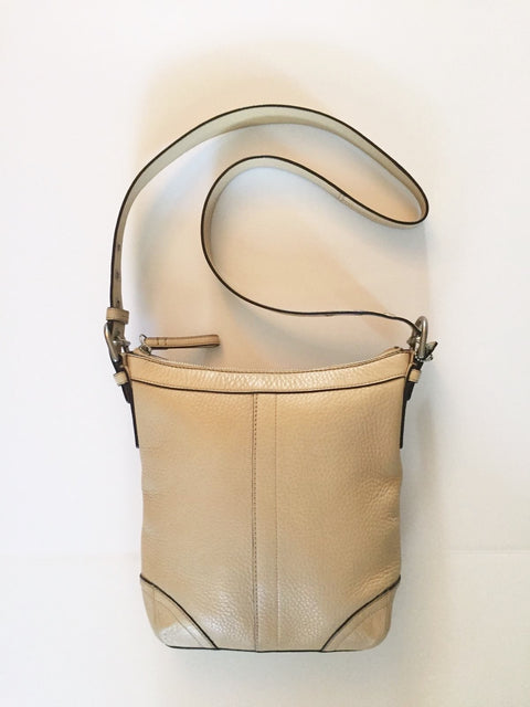 Coach Medium Cream Leather Cross-Body Bag
