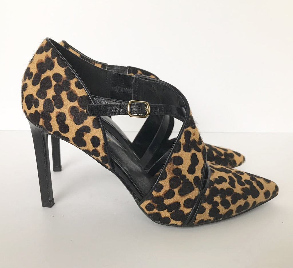 "Nine West ""Chillice"" Leopard Print Pointed Toe Heels Size 6"