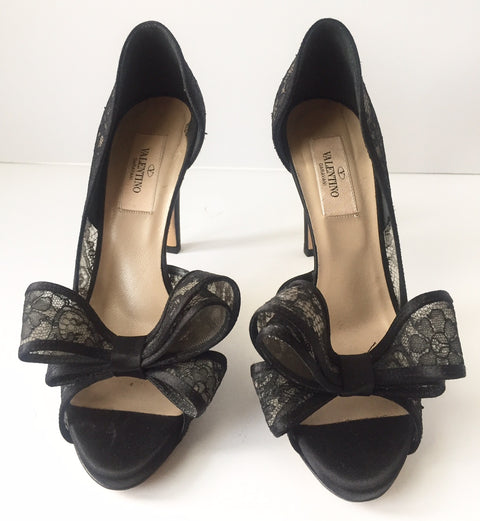Valentino Lace Couture Bow d'Orsay Pump Size 36 6 US
