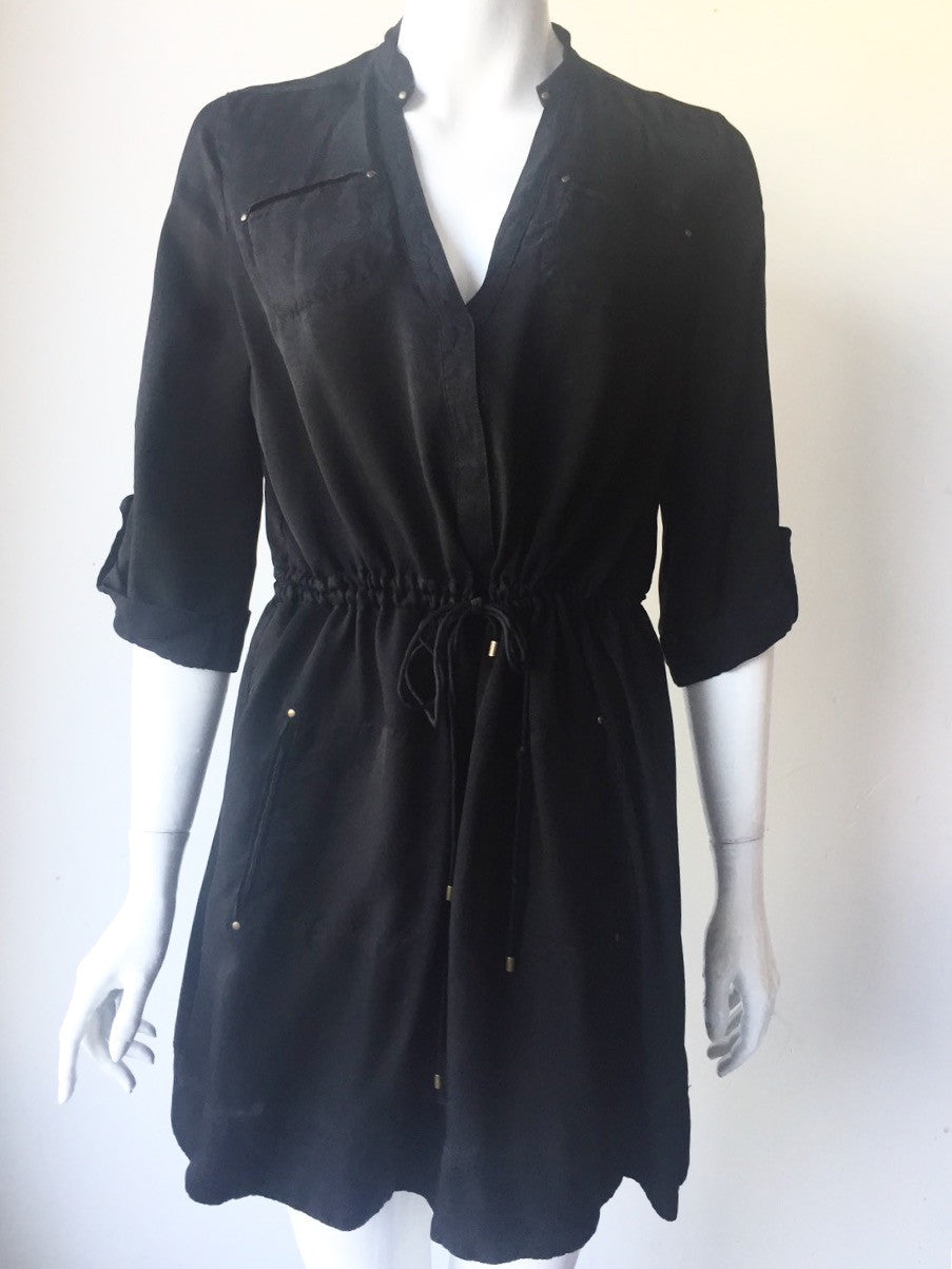 Diane Von Furstenberg Black Cargo Dress Size 8