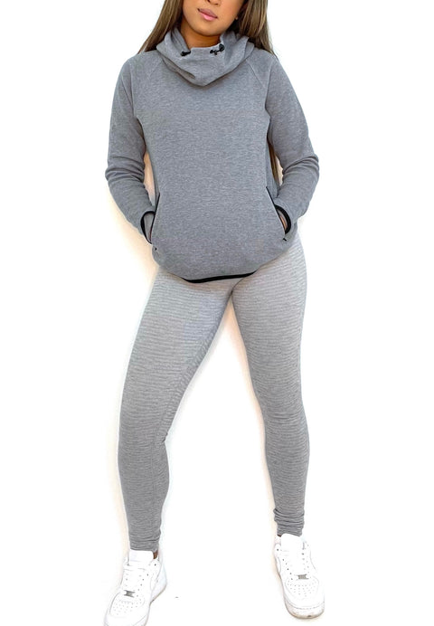 TNA Grey Hooded Sweater Size S