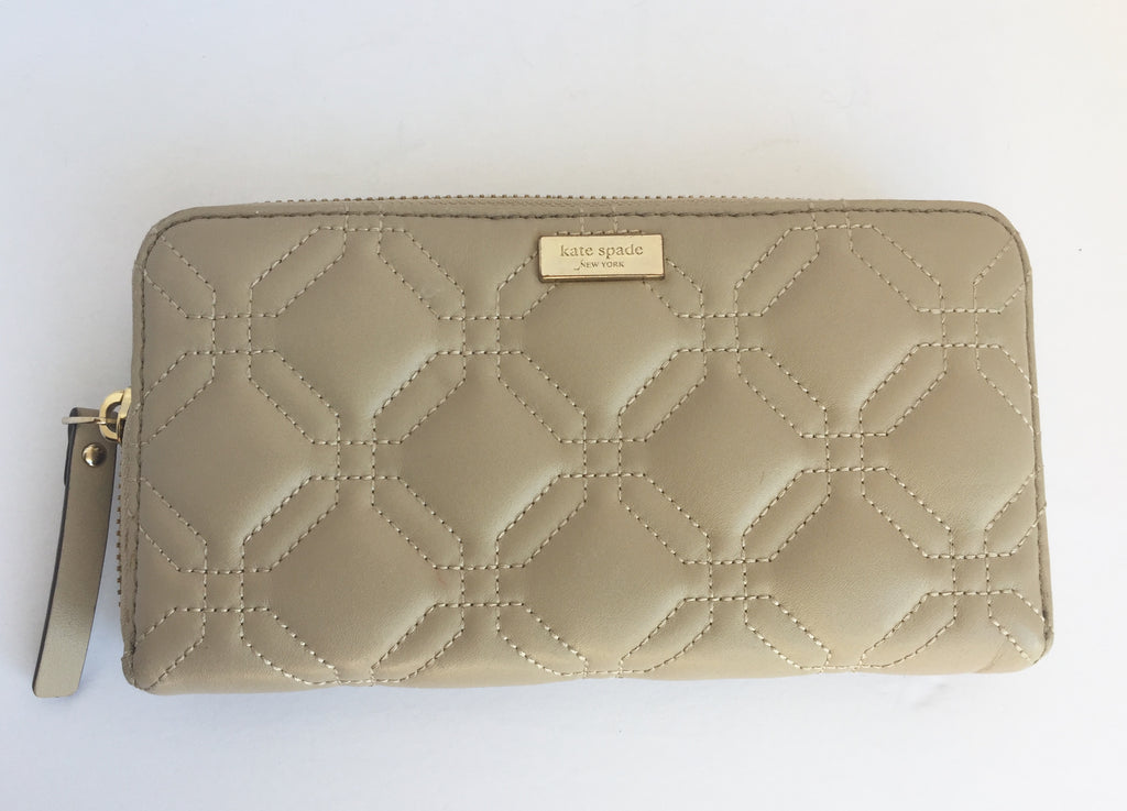 Kate Spade Astor Court Neda Nude Diamond Quilted Wallet