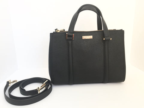Kate Spade Black Leather Small Tote