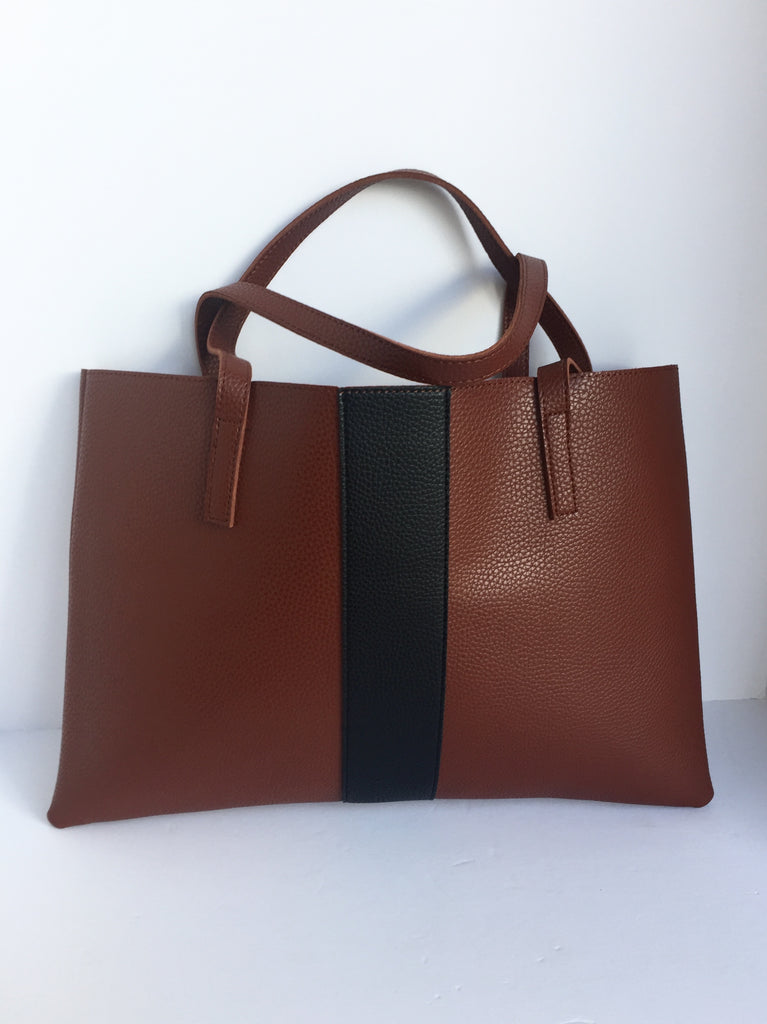 Brand New Vince Camuto Brown Vegan Leather Tote