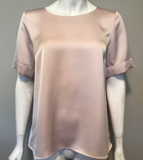Topshop Nude Blouse Size 6