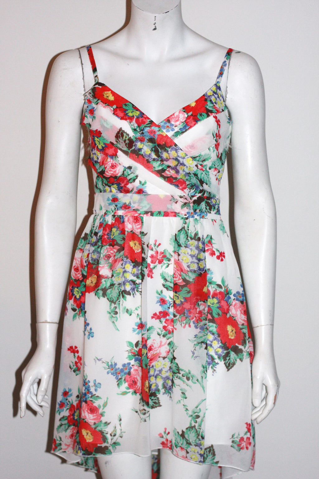 Lipsy London  Chiffon Floral Print Sun Dress - Joyce's Closet  - 1