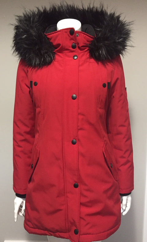 North Side By  Red Fen-Nelli Red Hoodie Jacket Size 4