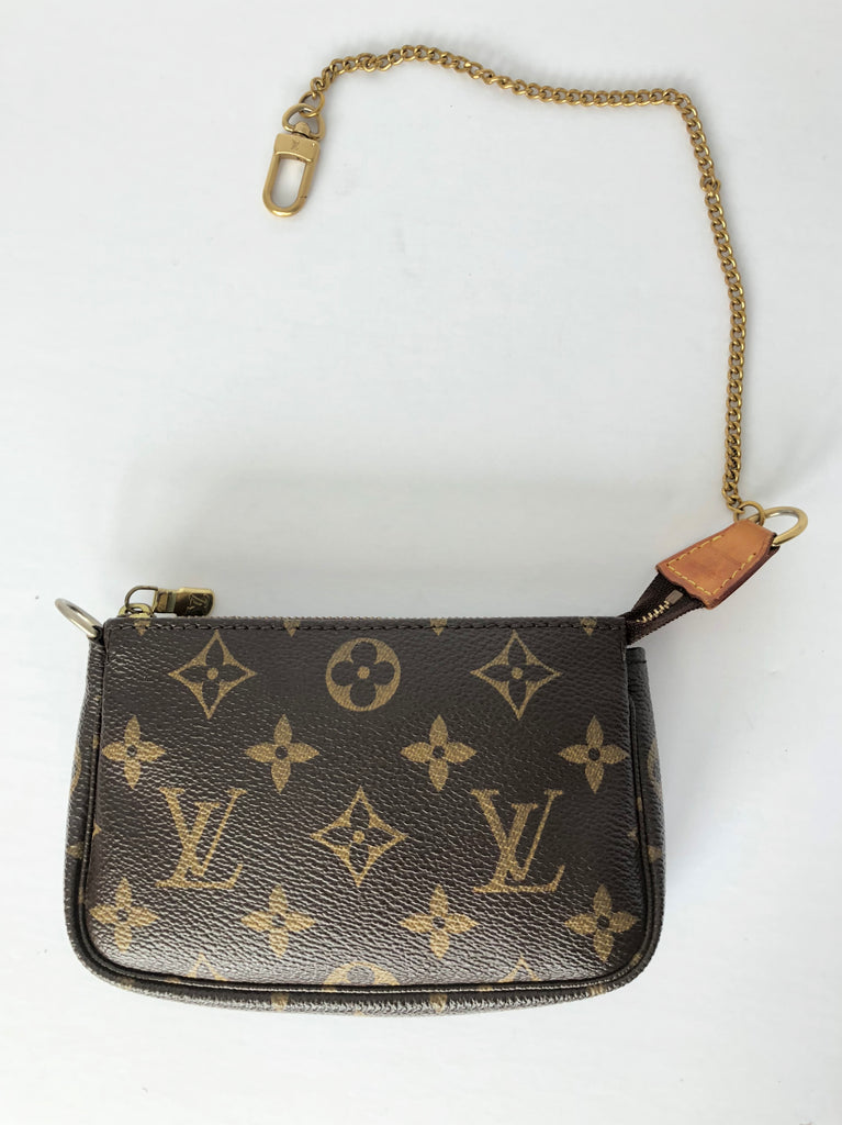 Louis Vuitton Mini Pochette Accessoires Monogram Canvas Zip Bag