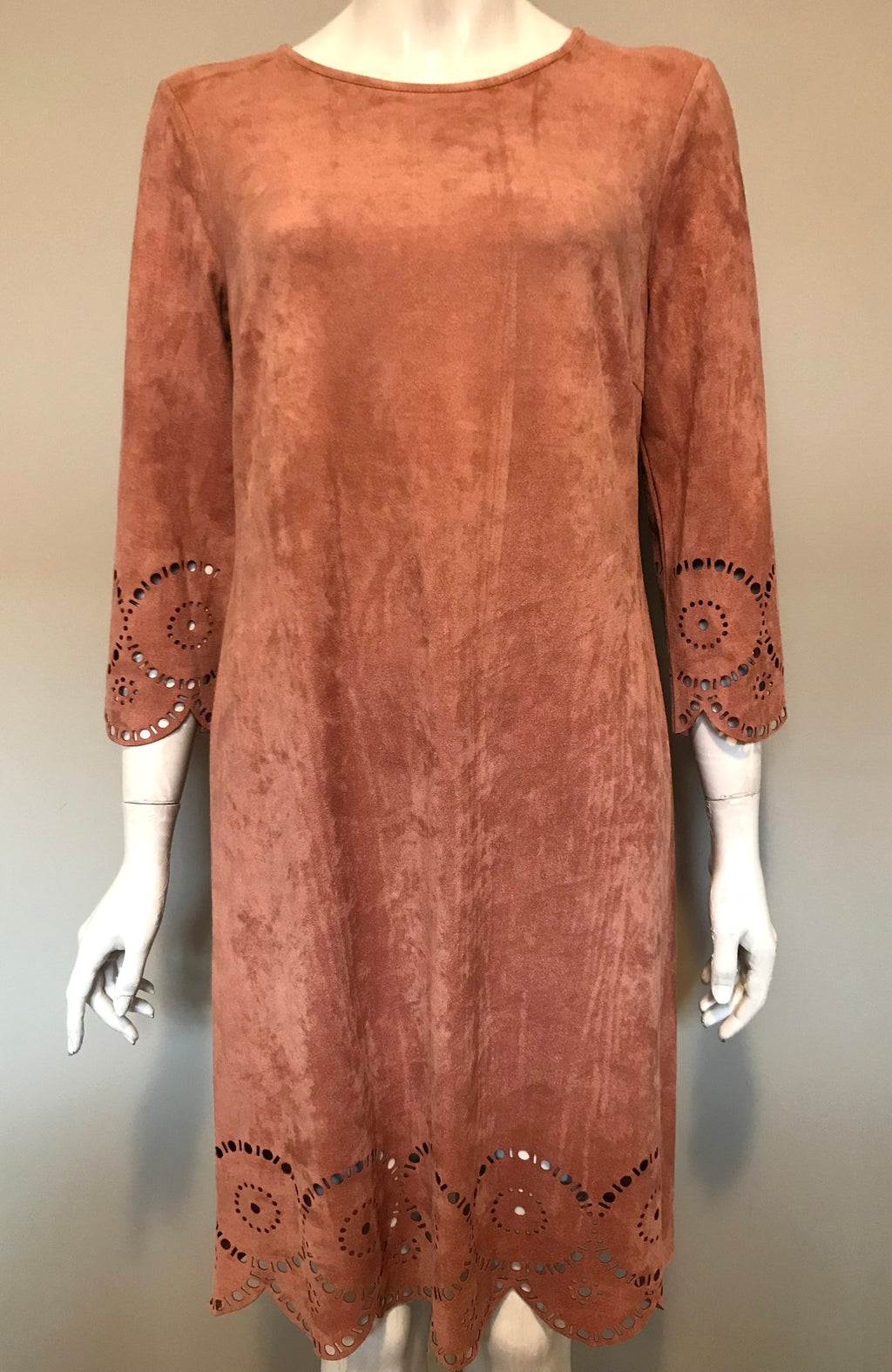 Kate & Mallory Blush Faux Suede Dress Size M