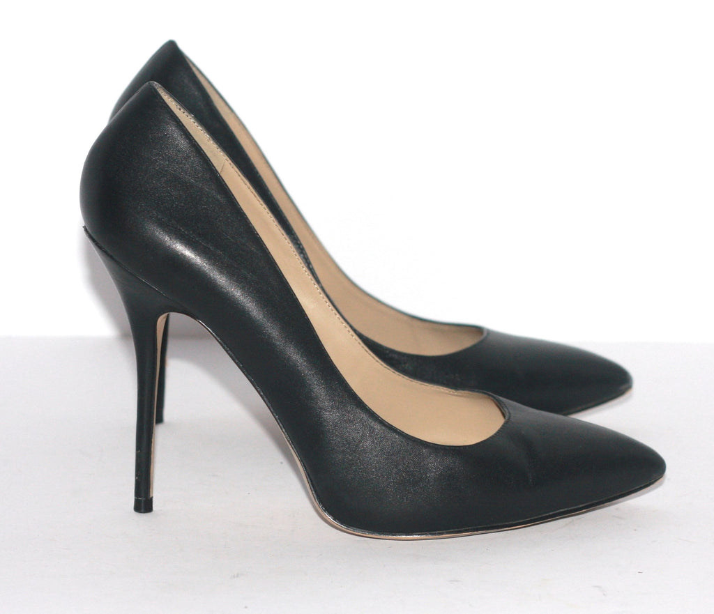 Black Aldo Leather Pointed Stiletto Pump - Joyce's Closet  - 1