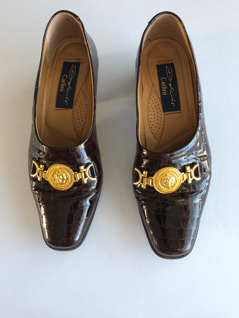 Vintage Dolcis Carlini Maroon Loafers Size 38.5