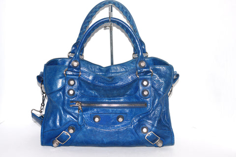 Balenciaga Blue Outremer Giant City GH Handbag - Joyce's Closet  - 1