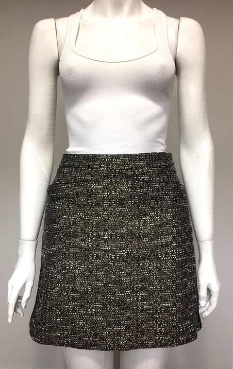 Mexx by Candy Dulfer  Gold Tweed Skirt Size 8