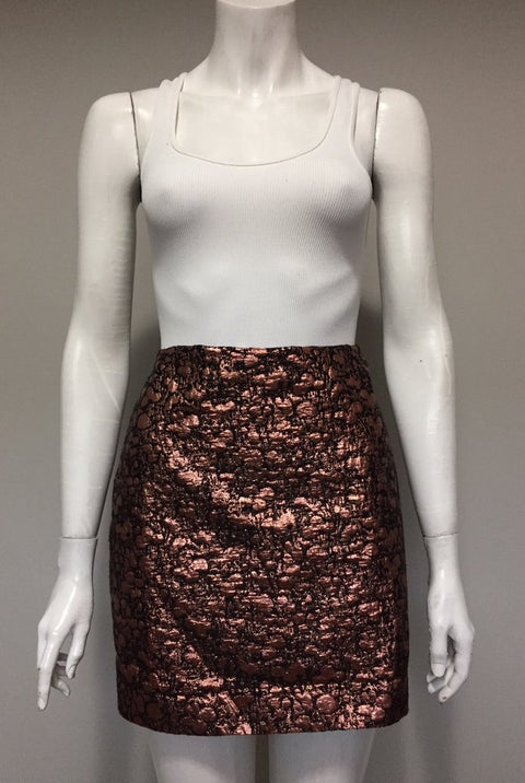 RW&CO Rose Gold Metallic Skirt Size 6