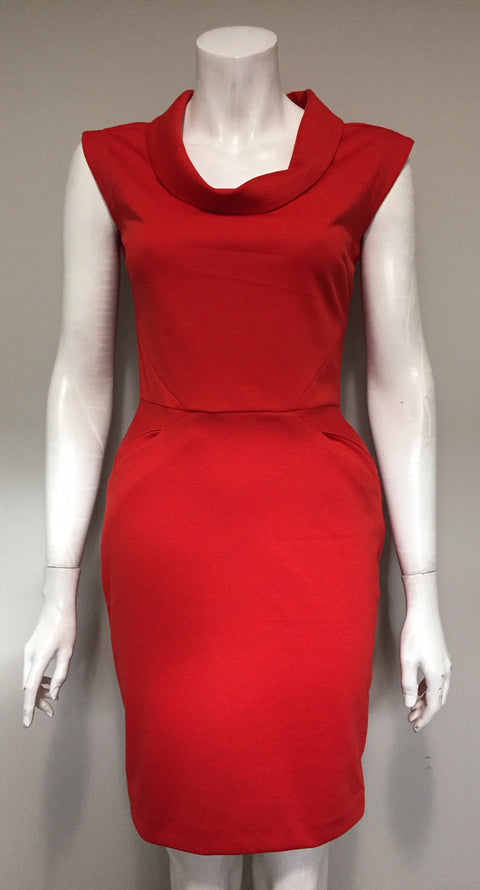 Banana Republic Red Sheath Dress Size 0