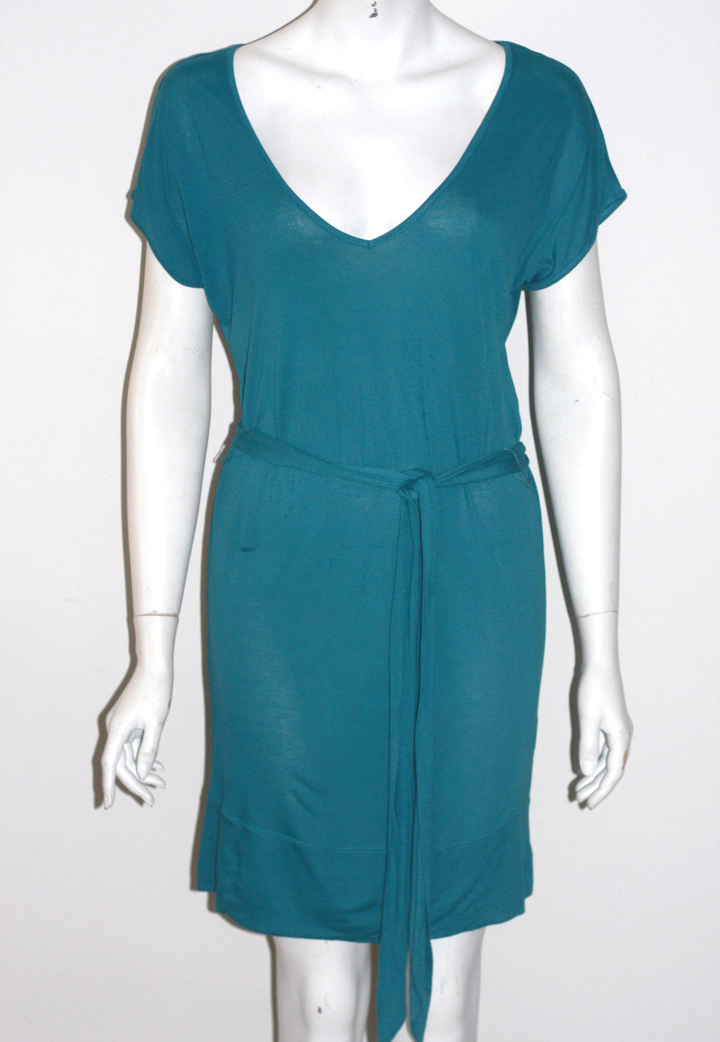 Brand New Green Community Bamboo Belted Dress - Joyce's Closet  - 1