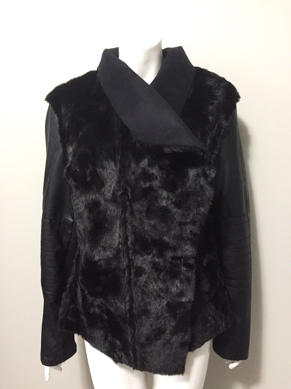 Love & Legend Black Faux Fur Jacket Size XXL