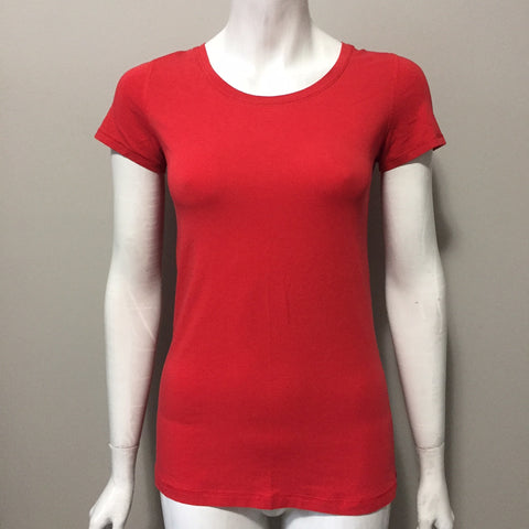 Lululemon Red Round Neck Tee Size S
