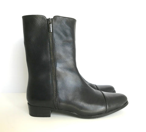 "Artica "" Elda""  Black Ankle Boots Size 8"