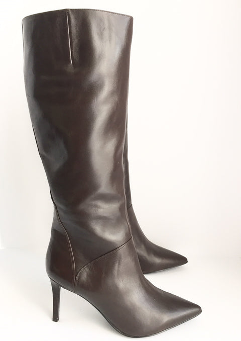 Brand New Nine West Pointed Brown Tall Boots Size 9