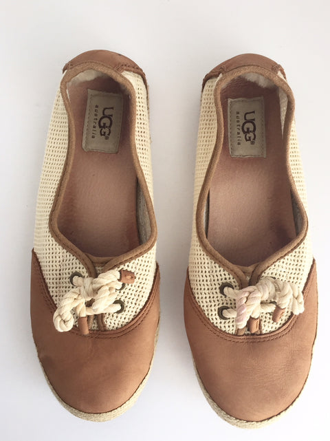 Ugg Brown Boat Shoes Size 7