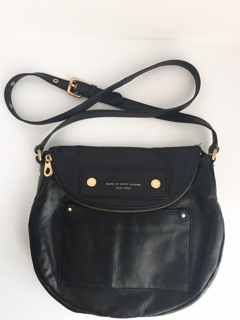 Marc by Marc Jacobs Sasha Black Leather Crossbody Bag