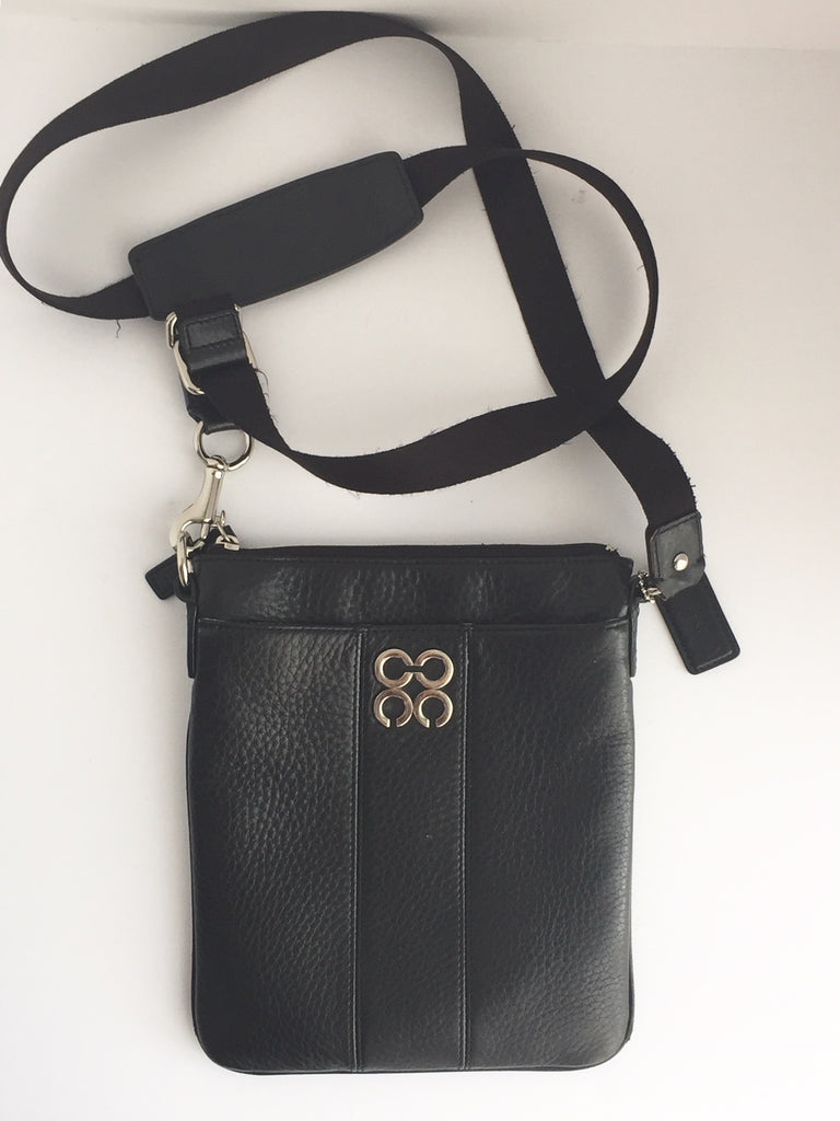 Coach Black Leather Cross-Body Bag