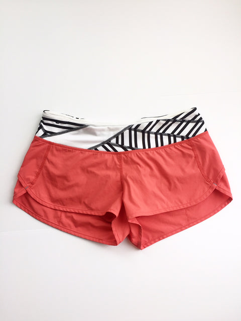 Lululemon Orange Running Shorts Size 6