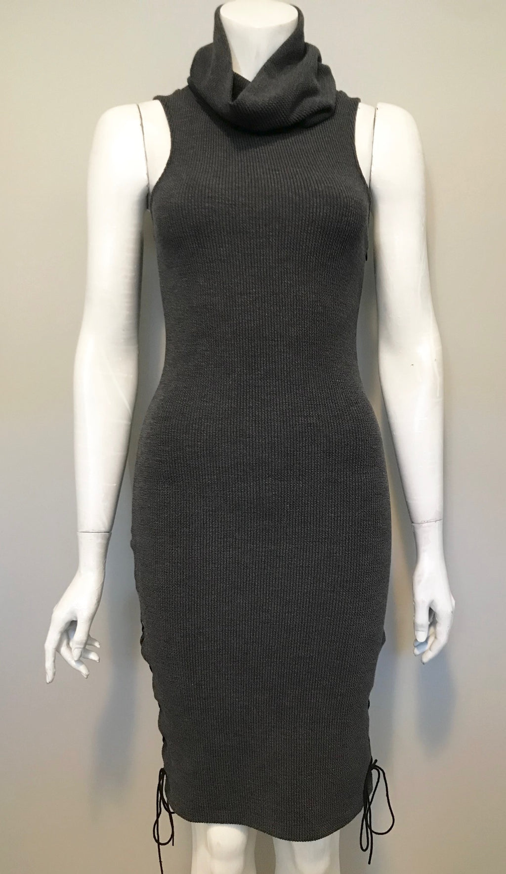 Anglr Grey Turtle Neck Sweater Dress Size S