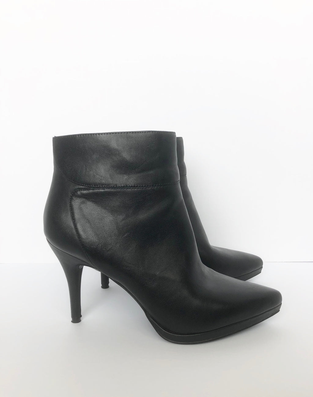 Nine West Black Ankle Boots Size 9.5