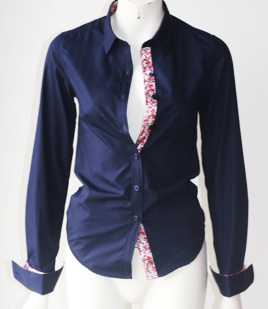 Brand New St Lynn Button Up Navy Shirt - Joyce's Closet  - 1