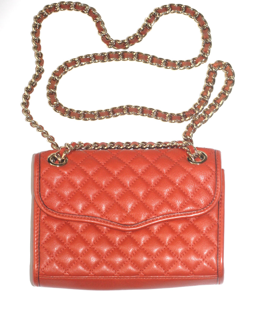 Rebecca Minkoff Orange Mini Quilted Affair Crossbody Chain Bag - Joyce's Closet  - 1