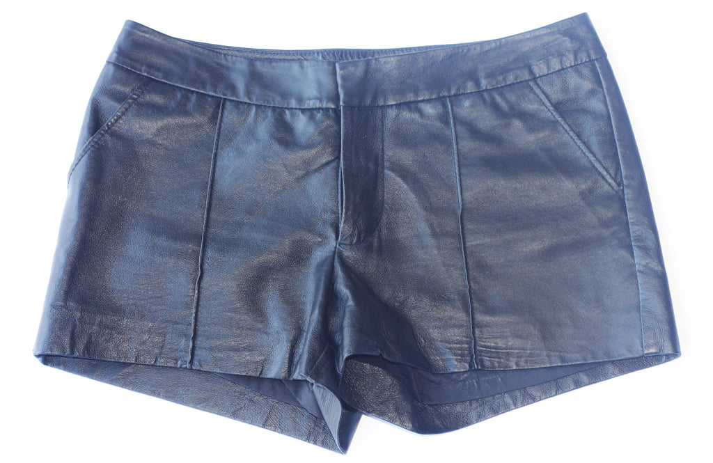 Bebe Black Leather Shorts - Joyce's Closet  - 1