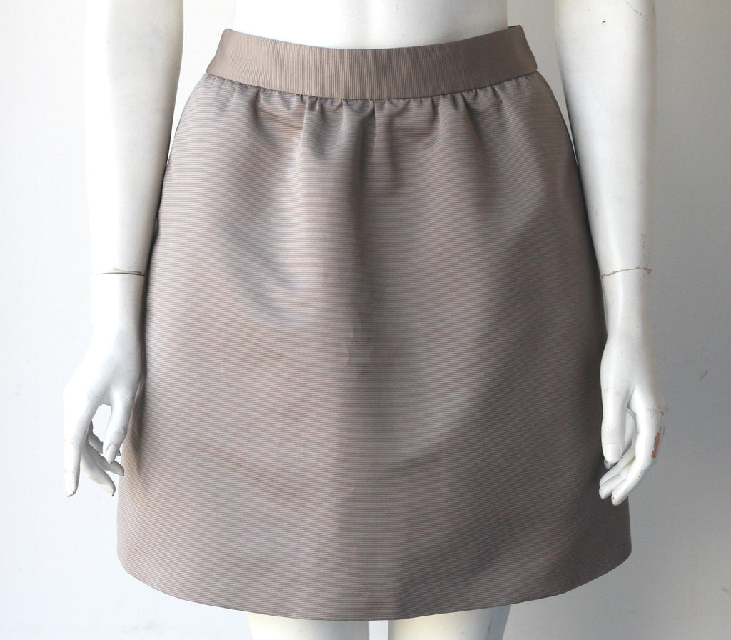 Red Valentino Taupe A Line Skirt - Joyce's Closet  - 1