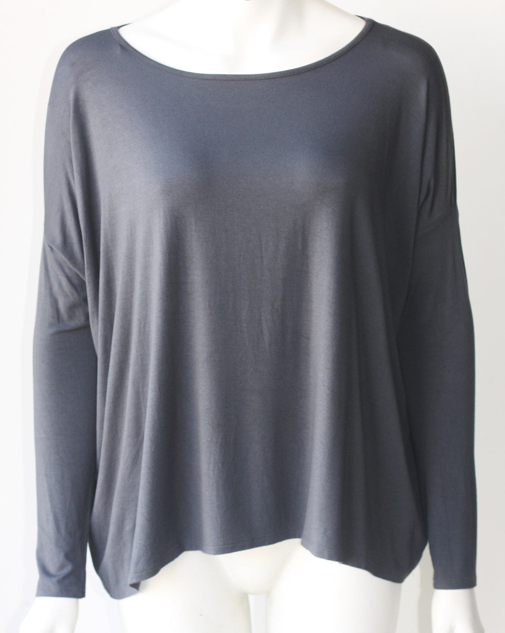 Fluxus Grey Dolman Long Sleeve Top - Joyce's Closet  - 1