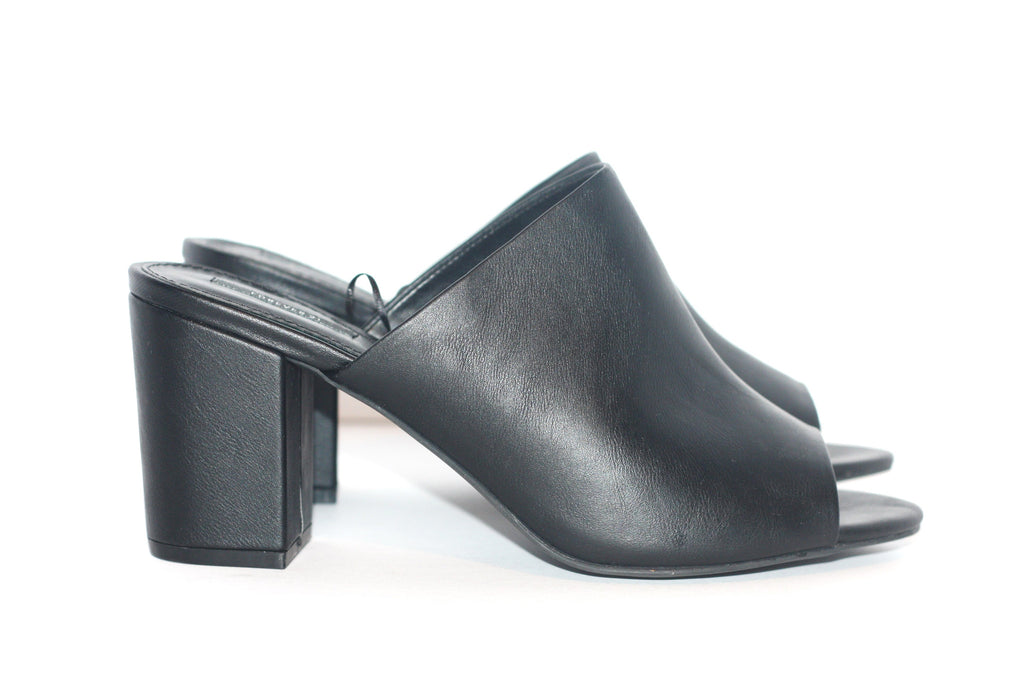 Brand New Forever 21 Black Vegan Leather Mules - Joyce's Closet  - 1